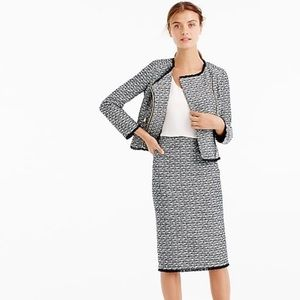 J. Crew Pencil Skirt in Fringy Tweed